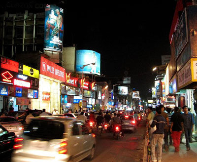 Bangalore's upmarket shopping destination - Brigade Road