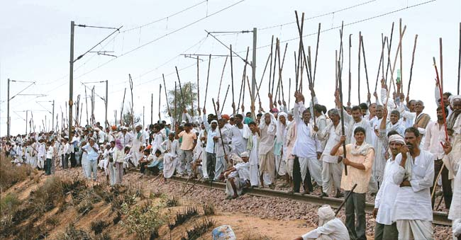 Gujjars in Rajasthan demanding reservation