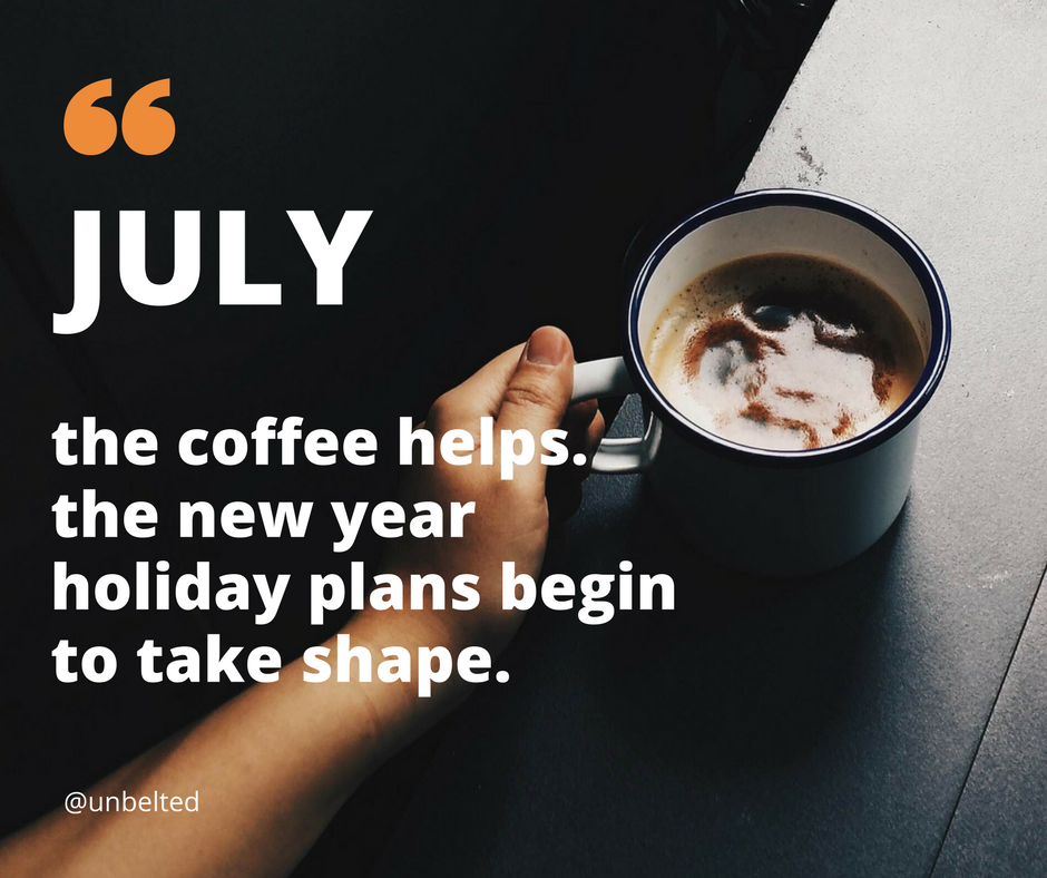 2018 New Year Resolutions - July